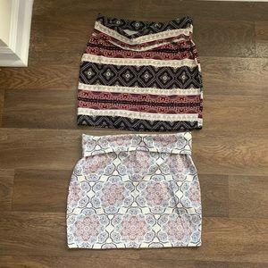 Charlotte Russe large mini skirts